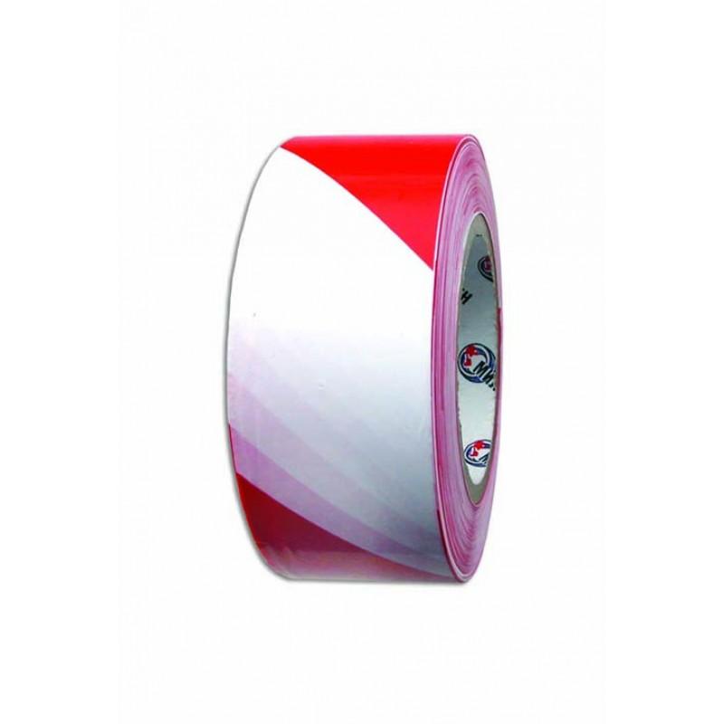 Лента сигнальная красно-белая 50мм-200м