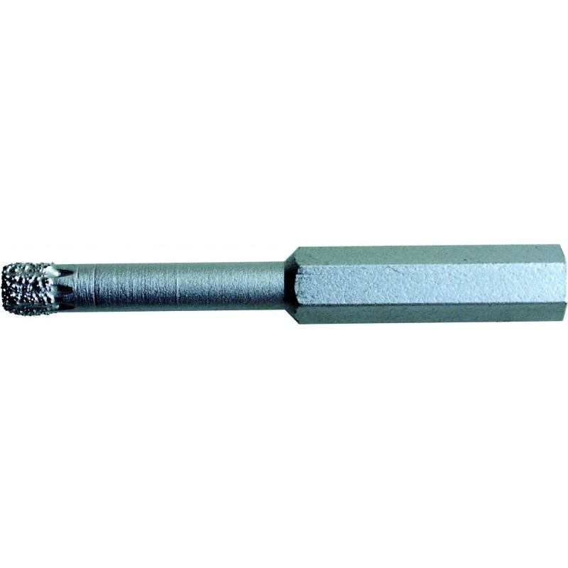 Сверло по кафелю, с твердосплавным наконечником, четыре режущие кромки, шестигранный хвостовик - е1/8 10 мм