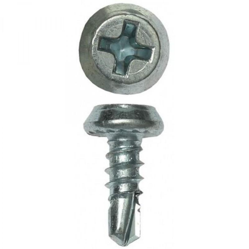 Саморез для метал профилей 3,5*9,5 цинк. сверло
