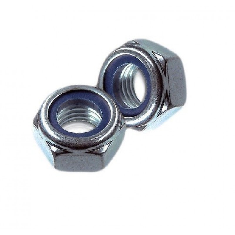 Гайка со стоп. кольцом, DIN 985, М 6