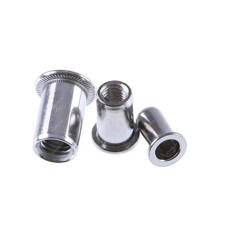 Заклепка гаечная (резьбовая) стальная, М10 CN1-СB-S цилиндрическая с насечкой