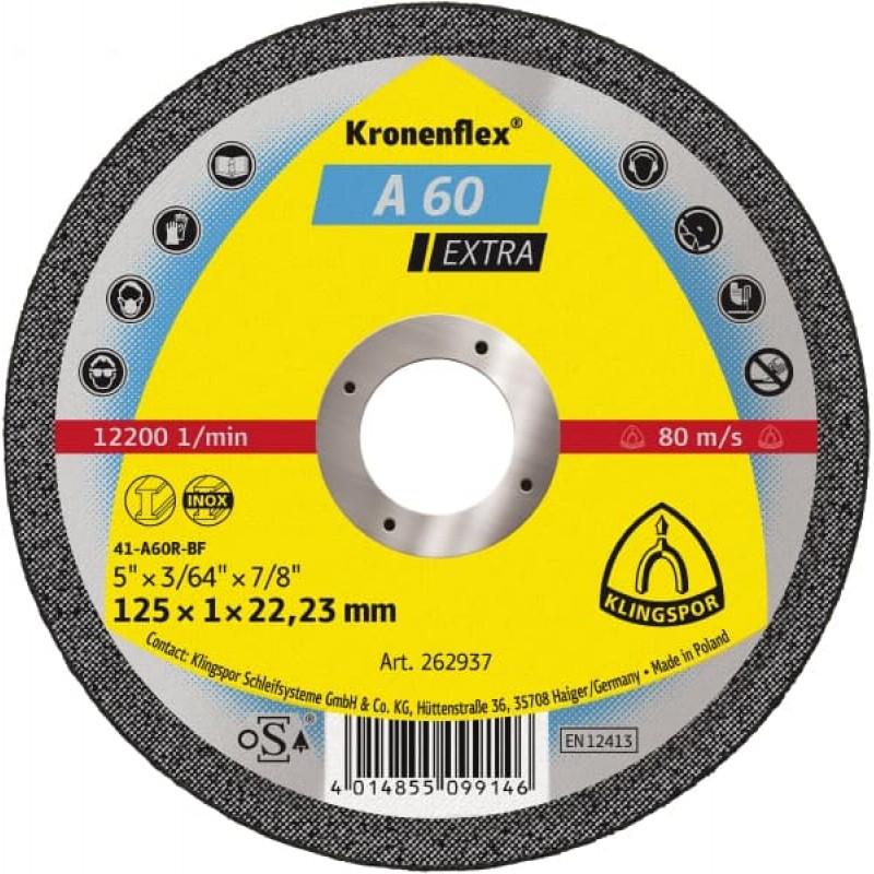 125X1X22,23 A 60 EX отрезные диски KT/EXTRA/A60EX/S/GER